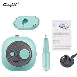 CkeyiN elektrische Nagel-Bohrer Set Frässchneideinrichtung Maschine für Maniküre-Nagel spitzt Maniküre elektrische Pedikürfeile 4 Kopf