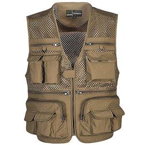 Tactical Vest Mantel Mode Männer Sommer Fotograf Weste Mesh-Arbeit Weste Werkzeug Viele Taschen-Weste Männlich