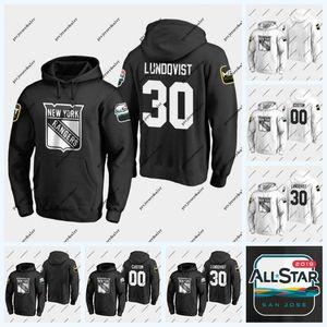 30 Henrik Lundqvist New York Rangers 2019 Tüm Yıldızlar Oyunu Hoodie 93 Mika Zibanejad 20 Chris Kreider 13 Kevin Hayes 36 Mats Zuccarello