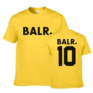 BALR Mens magliette estate girocollo manica corta Stampa Mens Tops Moda traspirante adolescenti Tees