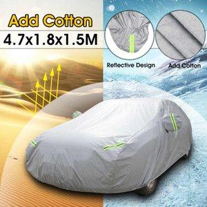 보편적인 4.7x1.8x1.5M 전체 자동차 커버 방수 큰 태양 보호 덮개는 무거운 의무 Breathable 눈 UV 먼지 보호