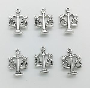 50 unids / lote Escalas Libra Charms Colgantes Accesorios de Joyería Retro DIY Colgante de plata Antigua Para Pulsera Pendientes Llavero 22 * 18mm