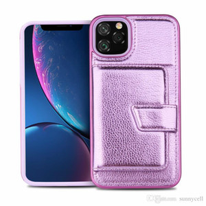 For Iphone 11 XS MAX XR X 8 7 6 Plus Card Slot Design Comfortable Touch Dual Layer Hybrid Phone Case