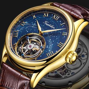 GUANQIN 100% reale Tourbillon Mens orologi Osservare meccanico top brand di lusso Uomini orologio impermeabile Sapphire Relogio Masculino T200311