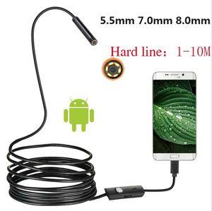 1 Pz Hard Line 5.5mm 7mm 8mm Telecamera Android Telecamera Industriale Endoscopio Industriale Tubo Dental Riparazione auto USB strumento 1m 2m 3,5m 5m 10m