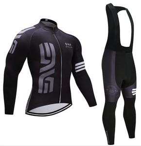 자전거 의류 남자 겨울 2019 블랙 프로 사이클링 팀 저지 자전거 바지 세트 망 Ropa Ciclismo 열 양털 착용