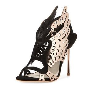 Hot Sale-Goddess2019 Hohle Webster Sophia hochhackige Schuhe Laser Carving Sandalen