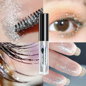 New Glitter Long Lasting Waterproof Curling Diamond Mascara Quick Dry Water Drop Makeup Thick Shiny Eyelash Mascara Beauty