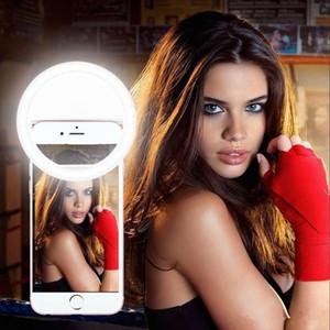 Fabricant charge LED remplissage beauté flash Flashs selfie lampe extérieure selfie ring light rechargeable pour tout téléphone mobile DHL Gratuit