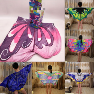 Kid Baby Girl Butterfly Wings Mantello Ninfa Pixie Poncho scialle Sciarpe costume cosplay Fancy Dress Up accessori