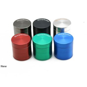 40mm 50mm 55mm 63mm 4 Layers Tobacco Grinder Metal SharpStone Grinders Hand Muller Pepper Grinder Smoking Accessories CCA12268 30pcs