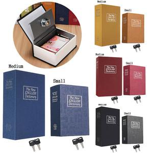 Безопасность Simulation Словарь Книга Case Главная Cash Money Jewelry Locker Secret Safe Storage Box с Key Lock Маленький Средний размер