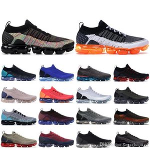Black Multi Color Knit 2 .0 Running Shoes 2019 Safari Pure Platinum Men Women Breathable Sneakers 1 .0 Triple Black Men Designer Shoess