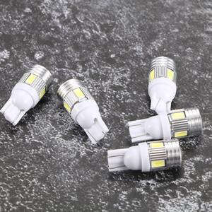 5Pcs Beyaz Yüksek Güç Otomotiv 3W LED göster Geniş Işık T10 5630 6SMD Oto Diyot lambası Ampüller Aksesuarları Işık yayan