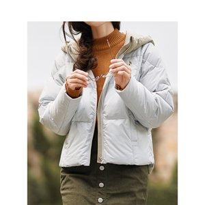 Giacca INMAN invernale con cappuccio cuciture ricamo caldo piumino corto femminile di Down