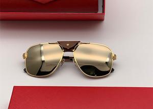 Luxury 0165 designer Occhiali da sole per uomo Donna outdoor Summer square Metallo stile Full frame Protezione UV di alta qualità Vieni Con box0165S rosso