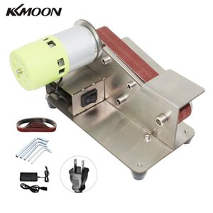 KKMOON Professional Belt Sander Knife Sharpener 7 Level Adjustable Polisher 100W Polishing Machine with 10pcs Sanding Belts