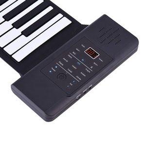 Portable Silicon 88 chiavi mano rotola in su della tastiera di piano elettronico USB Built-in agli ioni di litio e dell'altoparlante forte con un pedale