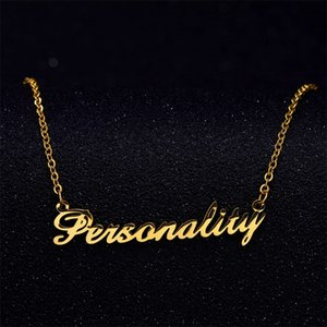 Signature Custom Necklace Gold Color Stainless Steel Personalized Handwriting Necklaces For Nameplate Pendant Choker Jewlery