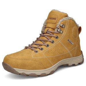 39-46 Herren Boots Plüsch warme Winter Herren Schuhe Big Size Anti Rutsch-Winter-Schuhe Herren Schwarz Braun Sicherheitsschuhe 2018