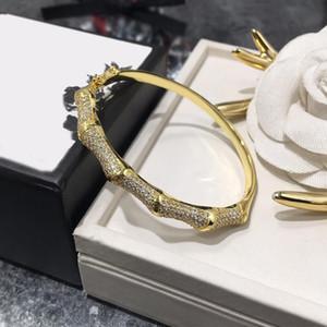 Neue Art-Designer-Schmuck Luxus Frauen Bambus Armband Diamant Armbänder Frauen-Hochzeits-Verpflichtungs-Fine Jewelry Nagelarmband
