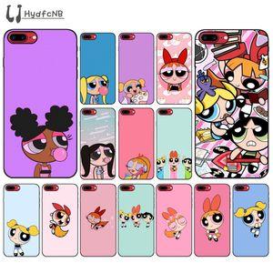 2020 Sevimli Powerpuff Girls Yüksek Kaliteli Silikon Telefon Kılıfı iPhone 11 pro XS MAX 8 7 6 6S Plus X 5 5S SE XR vaka toptan için