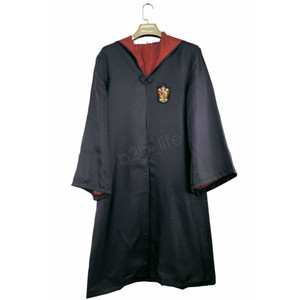 Fashion-Harry Potter Robe capo del mantello del costume cosplay bambini adulti Harry Potter Robe Mantello Grifondoro Serpeverde Corvonero Robe mantello LJJA2789