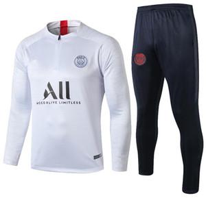 2019 2020 hombres chándal kit 19 20 Jordam los hombres que activan la chaqueta del juego de fútbol entrenamiento de fútbol infantil de aire Mbappé Pogba Survetement París