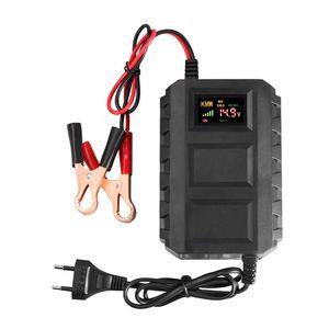 12V inteligente carregador de bateria carro motocicleta inteligente bateria carregador de carga automóvel 20a chumbo bateria charger bateria