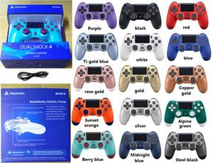 18 Renkler Sony için PS4 Titreşim Joystick Gamepad Kablosuz Game Controller için PS4 Kontrolörü Perakende paket kutusuyla Play Station
