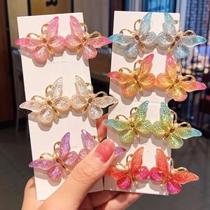 Nuove donne ragazze carine farfalla colorata forcelle belle clip ornamento dei capelli Barrettes dei capelli della fascia Accessori di moda