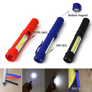 LED Flashlight COB Mini Pen Multifunction LED Torch Light cob Handle work flashlight Work Hand Flashlight With the Bottom Magnet