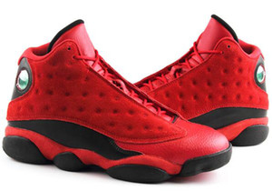 جودة عالية 13 الصينية يوم واحد أحمر أسود SNGL دى الرجال أحذية كرة السلة 13S ما هو حب الرياضة أحذية رياضية مع مربع