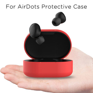 Red Mi Airdots Protection Cases Set Redmi Youth Version Wireless Bluetooth Charging Box Silicone Anti-fall Soft Protective Case