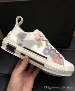 Uomini B23 Oblique High-top in pelle Sneaker tecnica Vintage Piattaforma Bianco Nero donne a basso top Designer Shoes formatori Runner Sole con la scatola