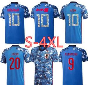 2020 2021 Número de dibujos animados camiseta de fútbol de Japón Minamino ATOM Tsubasa Kagawa ENDO OKAZAKI NAGATOMO Hasebe equipo nacional de fútbol camiseta S-4XL