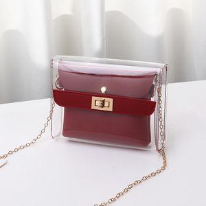 Satchel Fashion Casual Bag Borrar Compras 2019 Transparente Crossbody Shoulder Lism Lism Messenger Bags Bag Small Bags Kectc