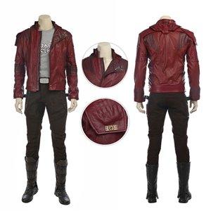 Galaxy Vol Yıldız Rab Kostüm Koruyucular. 2 Cosplay Peter Quill Tam Set Ceket