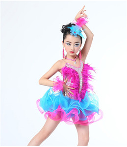 Children Professional Latin Dance Dress For Girls Ballroom Dance Competition Dresses Kids Modern Waltz/tango / Cha Cha Costumes