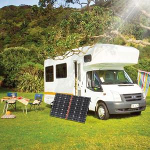 2020 새로운 접이식 120W 18V 태양 전지 패널 단결정 태양 전지 12V / 24V 배터리 Chargeing를 들어 캠핑 / 보트 / RV / 여행 / 홈