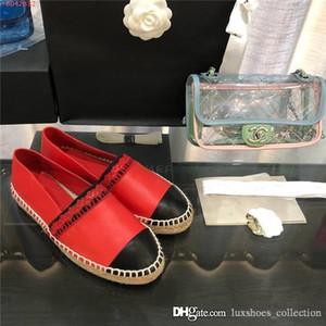 Classique Mesdames Mocassins en cuir, Dernières Espadrille Flats avec paille tissage Soles chaussures Casual Fisher femme Slip-on taille 35-40
