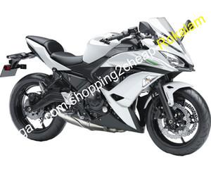 Pour Kawasaki 650R ER 6F 2017 2018 2019 ER-6F ER6F 650 17 18 19 Noir Blanc Black Moto Catériel (moulage par injection)