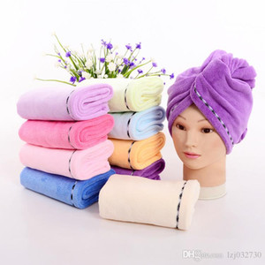 Microfiber Quick Dry Shower Hair Caps Super Absorbent Dry Hair Towel Drying Turban Wrap Hat Spa Bathing Caps A411