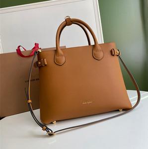 Top-Qualität Kalbsleder Luxustaschen echtes Leder-Frauen-Schulter-Beutel der Banner Tote Mode diagonale Handtaschen