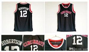 12 Оскар Робертсон Джерси Цинциннати Bearcats Jersey College Баскетбол Трикотажные черные сшитые спортивные рубашки Высочайшее качество!
