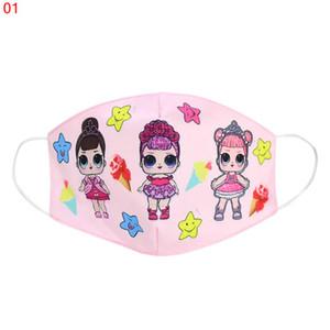 Смешайте 18 stylys 30шт детские дизайнерские маски для лица мультфильм куклы печатные трехмерные пылезащитные маски Антипылевые маски для лица