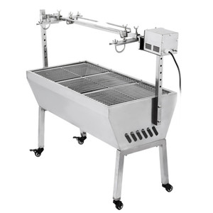 Brand New Stainless Steel BBQ Lamb Spit Roaster Factory Stainless Steel BBQ Lamb Spit Roaster With Electric Motor