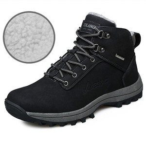 Snow Boots Outdoor Large Size Snow Boots Warm and Velvet Cotton Shoes Mens Sneakers Non-slip Sports Sneakers Trainers
