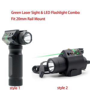 التكتيكي الأخضر البصر بالليزر LED ضوء فلاش كومبو مضيا صالح 20 ملم Picatinny السكك الحديدية جبل شحن مجاني