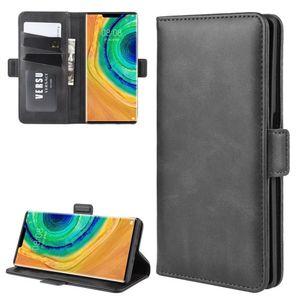 Para Huawei Companheiro 30 Pro Duplo Buckle Crazy Horse Negócios Mobile Phone Holster com função de cartão da carteira Bracket